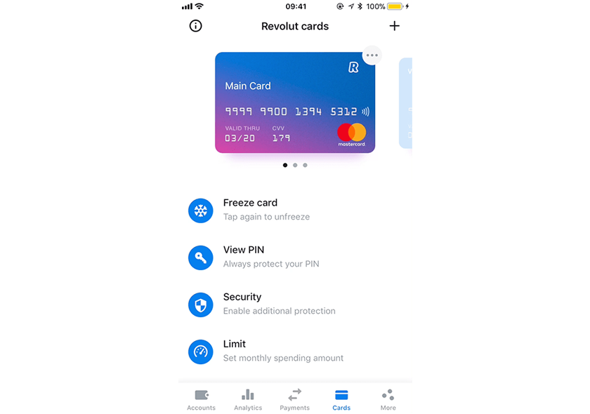 Revolut screen shot on phone